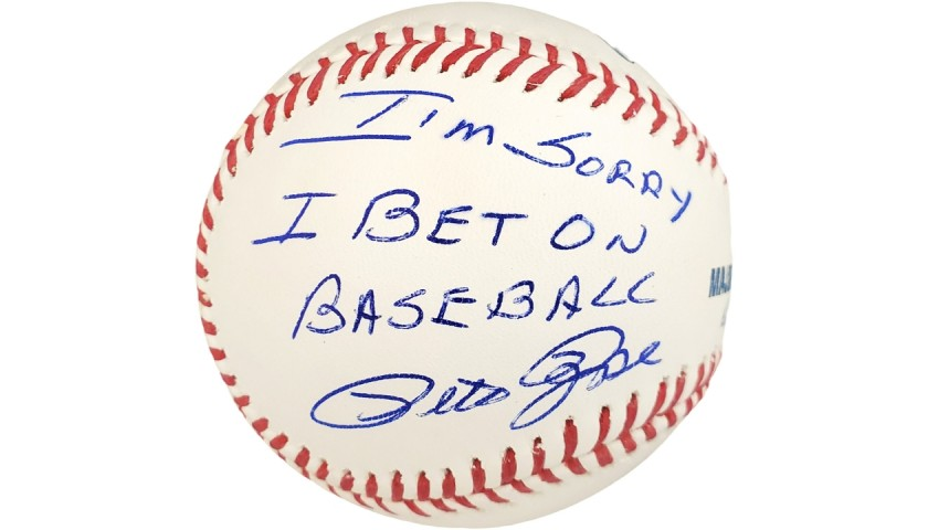 Pete Rose Signed and Inscribed Baseball
