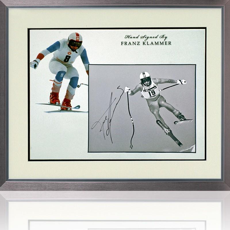 Franz Klammer Signed Winter Olympics Presentation