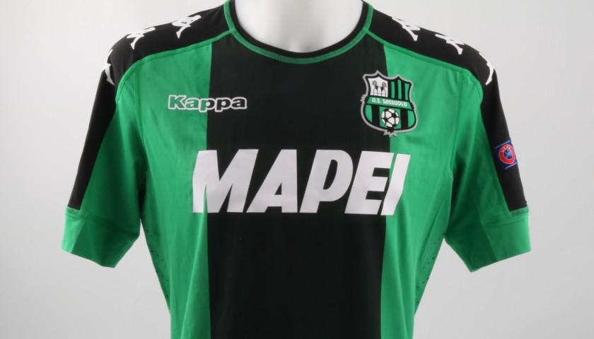 Official Acerbi Sassuolo shirt, Europe League 16/17 - signed