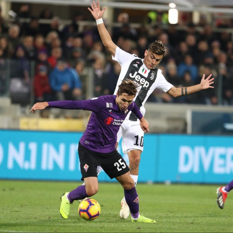 Chiesa's Match-Issue Shirt with Mandela Patch, Fiorentina-Juventus