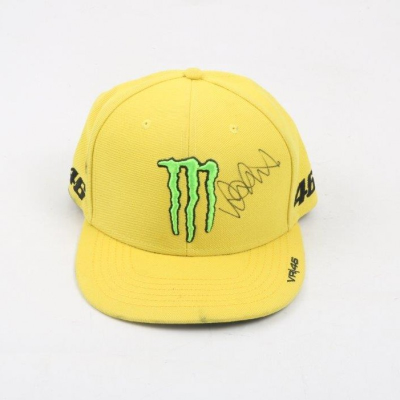 Official Monster Yamaha Cap Signed by Valentino Rossi