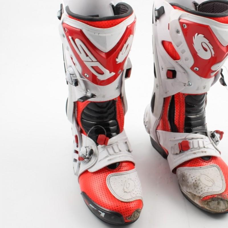 Boots worn by italian pilot Michele Pirro, 2015 season