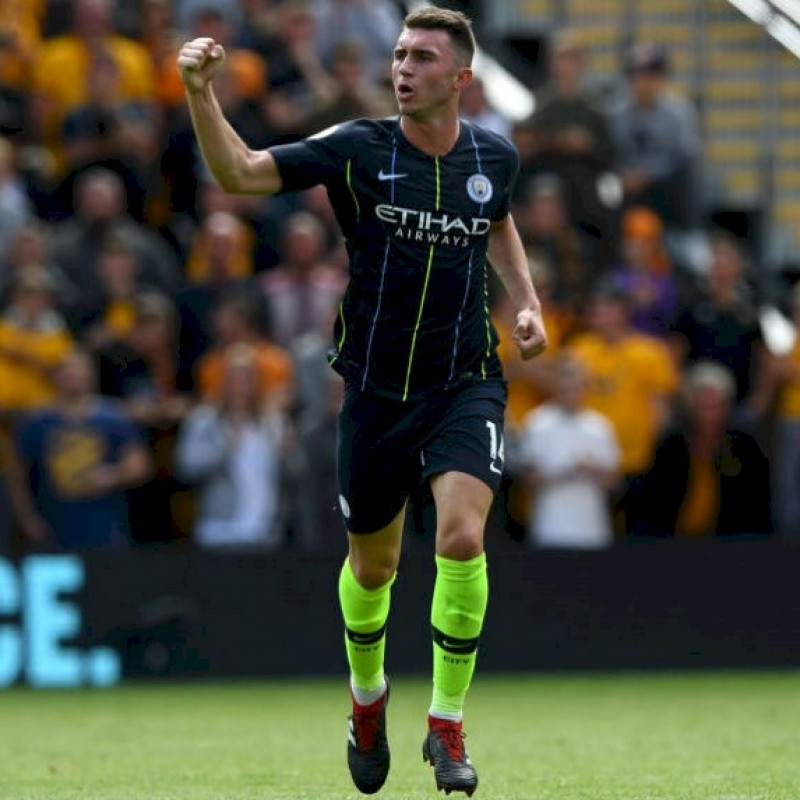 Laporte's Manchester City  Match Navy/Volt Shorts, Premier League 2018/19