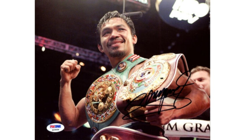 Manny Pacquiao Signed Photograph
