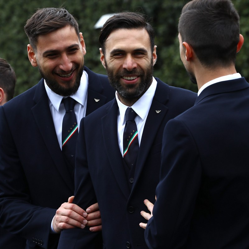 Salvatore Sirigu's Italy National Football Team Trench Coat
