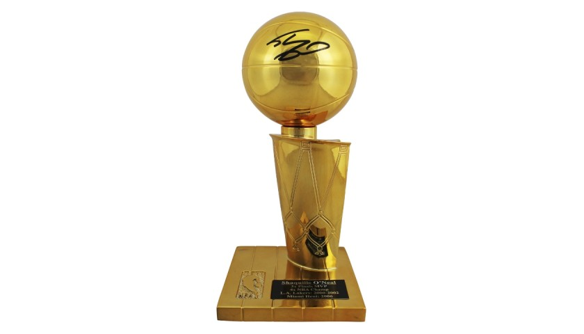 Shaquille O'Neal Signed NBA Championship Replica Trophy