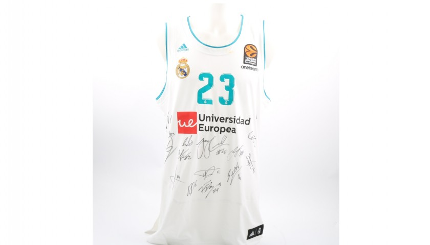 new style 1a848 cc767 Issued/Worn Real Madrid Jersey Signed by Llull, 2017/18 Turkish Airlines  EuroLeague - CharityStars