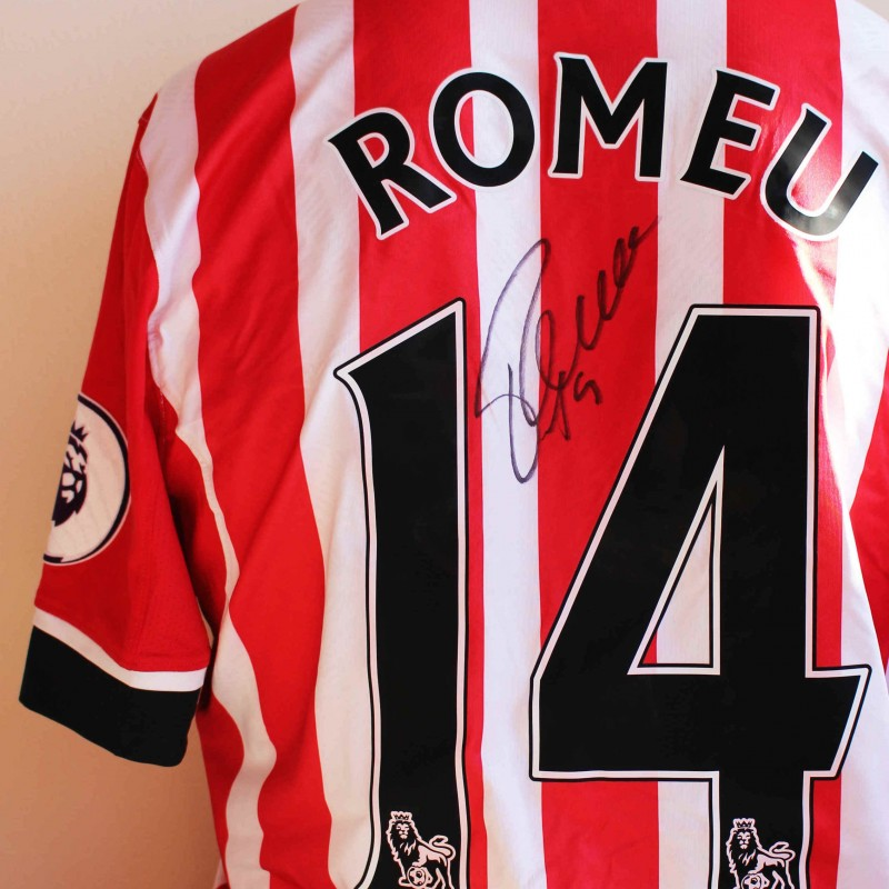 9b04535af Oriol Romeu s Match Worn and Signed Southampton FC Poppy Shirt from ...