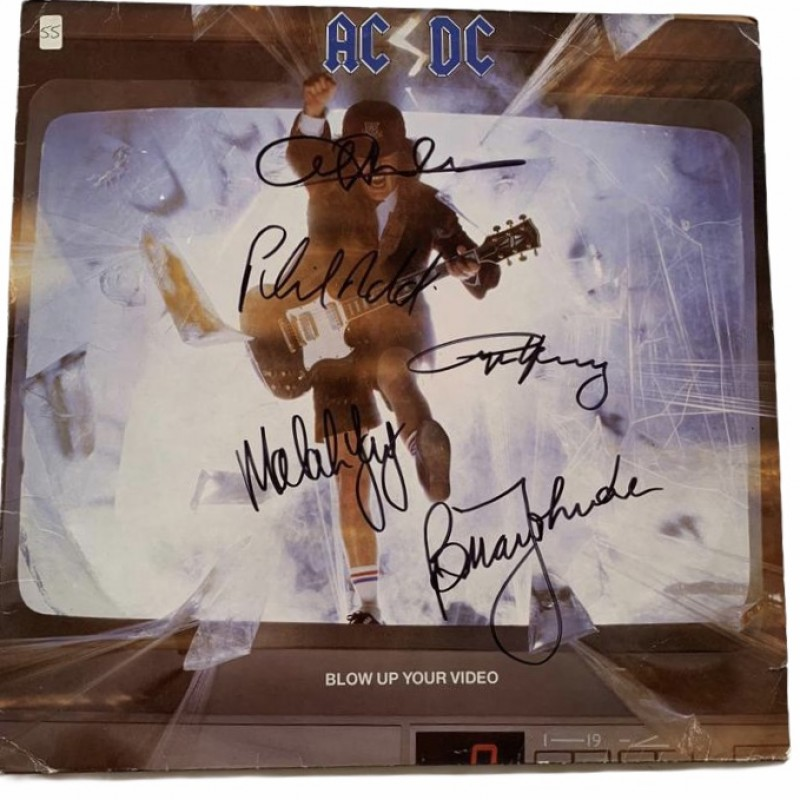 AC/DC Fully Signed Blow Up Your Video Vinyl LP