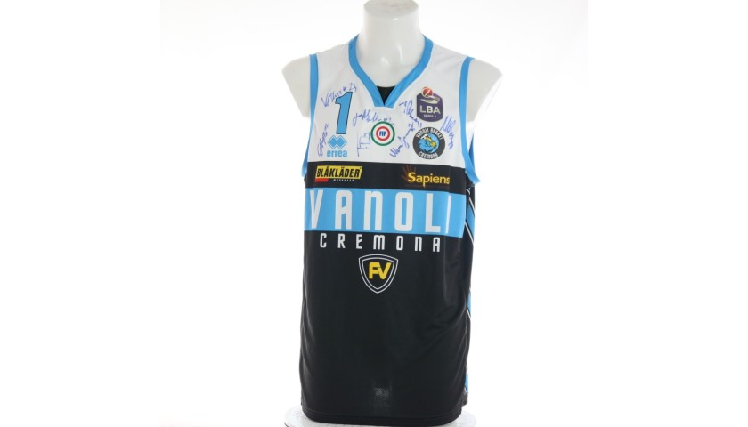 Saunders' Cremona Worn Match Jersey, 2019/20 - Signed by the Players