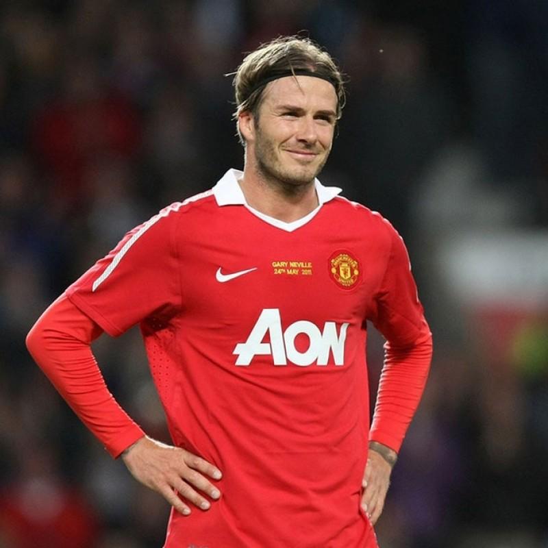 Beckham's Match-Issued/Worn Match Shirt, 2011 Manchester-Juventus