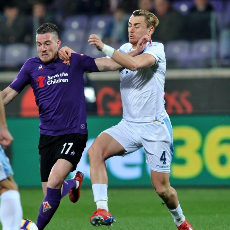 Patric's Lazio Match Shirt, Fiorentina-Lazio 2019