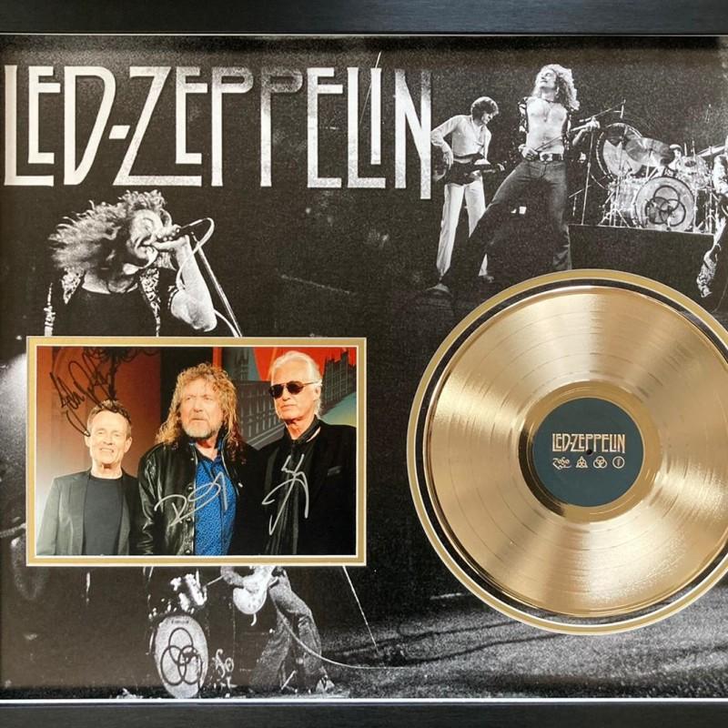 Led Zeppelin Gold Disc Signed Presentation