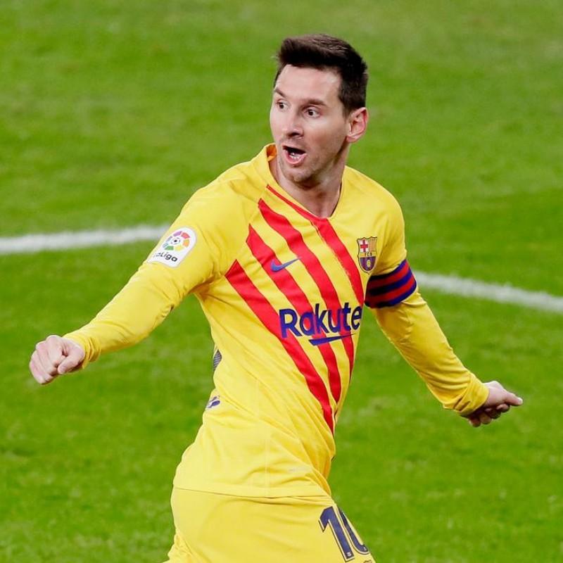 Messi's Barcelona Signed Match Shirt, 2020/21