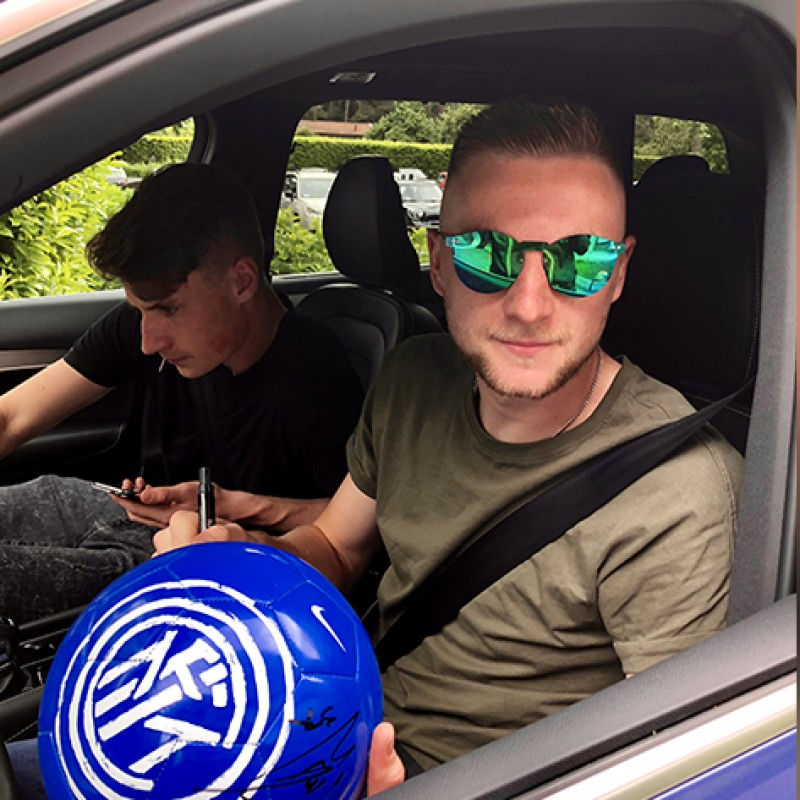 Official 2017/18 Inter Match Ball, Signed by the Team