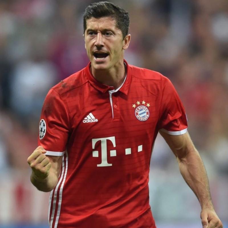 Lewandowski's Bayern Munich Signed Match Shirt, 2016/17