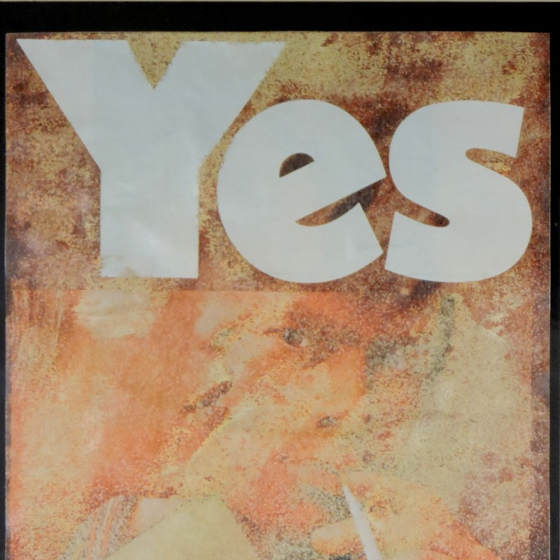 """Yes"" by Mimmo Rotella"