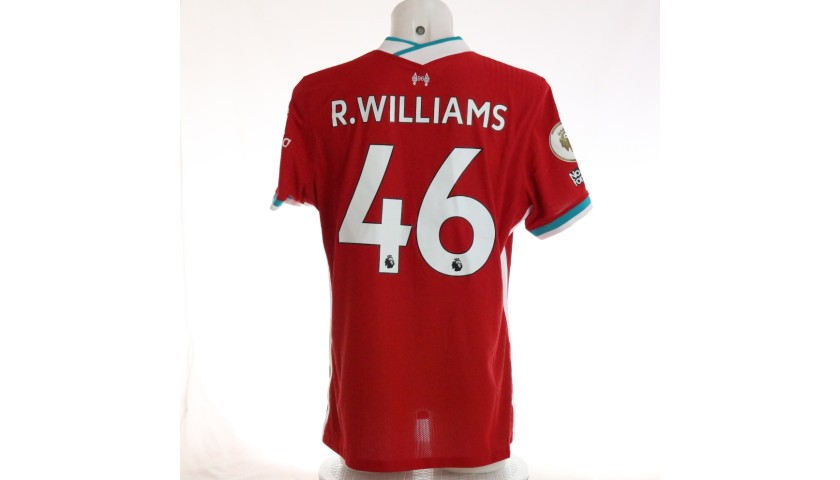 R. Williams' Liverpool FC Match-Issued and Signed Shirt, Limited Edition 20/21