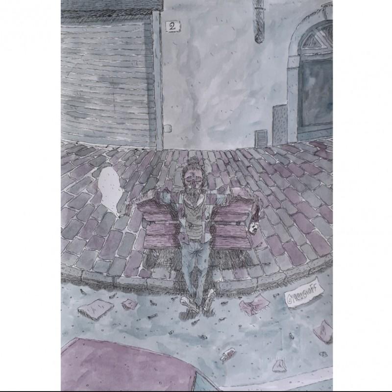 """Cristo su panchina"" by Giangioff"