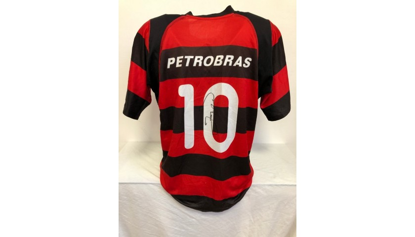 Official Flamengo Shirt, 2002/04 - Signed by Zico