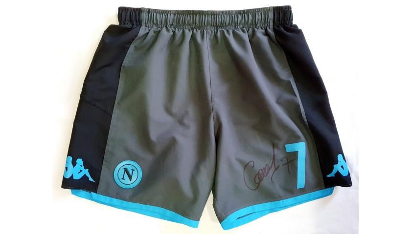 Callejon's Napoli Worn and Signed Shorts, Napoli-Parma 2019