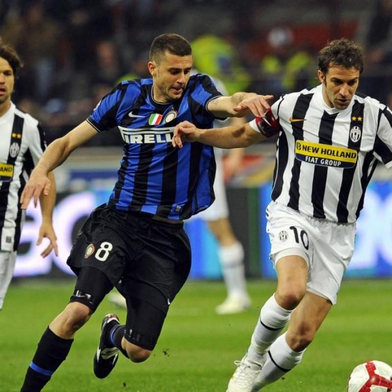 Del Piero's UNWASHED Match-Worn 2009/10 Juventus Shorts