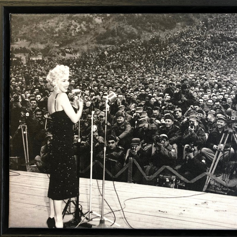 """""""Marilyn Monroe With The Troops"""" Framed Montage"""