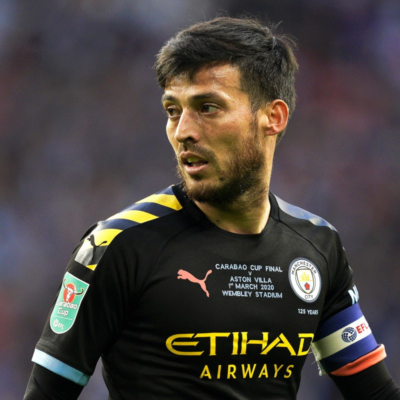 Silva's Official Manchester City Signed Shirt, 2019/20