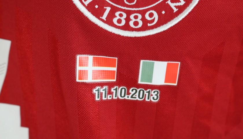 Bille's Match Shirt, Denmark-Italy 2013