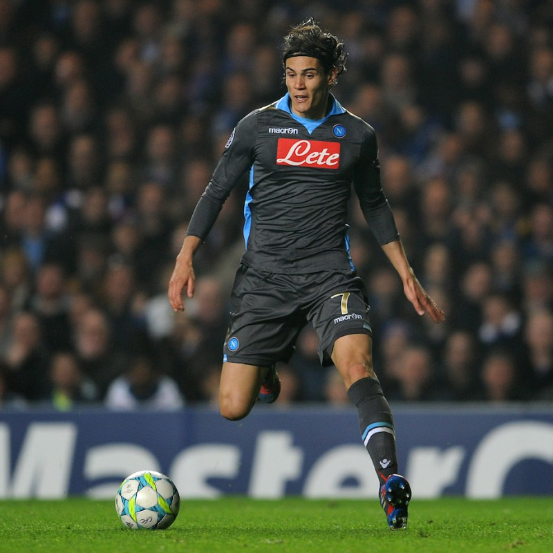 Cavani's Match-Issued/Worn Napoli Shirt, Serie A 2011/12