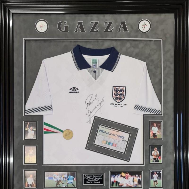 Paul Gascoigne Signed Italy 1990 Replica Shirt