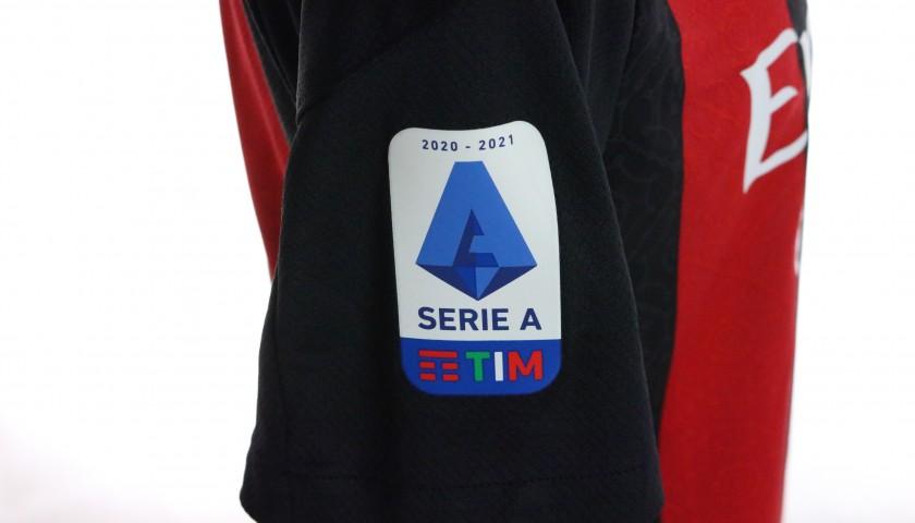 Kalulu's Worn and Signed Shirt, Milan-Inter 2021