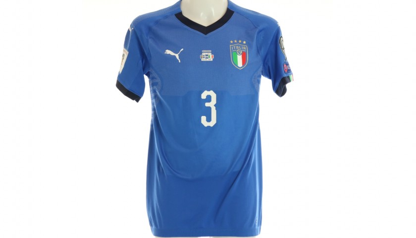 Chiellini's Signed Match Shirt Sweden-Italy 2017