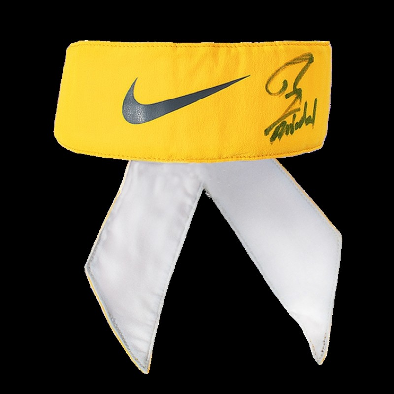 Rafael Nadal, Match Worn Bandana, Nike, Yellow