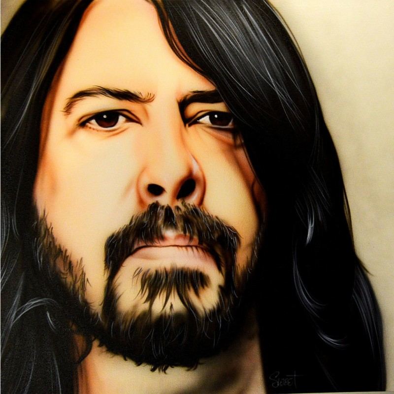 Dave Grohl Hand Painted Portrait