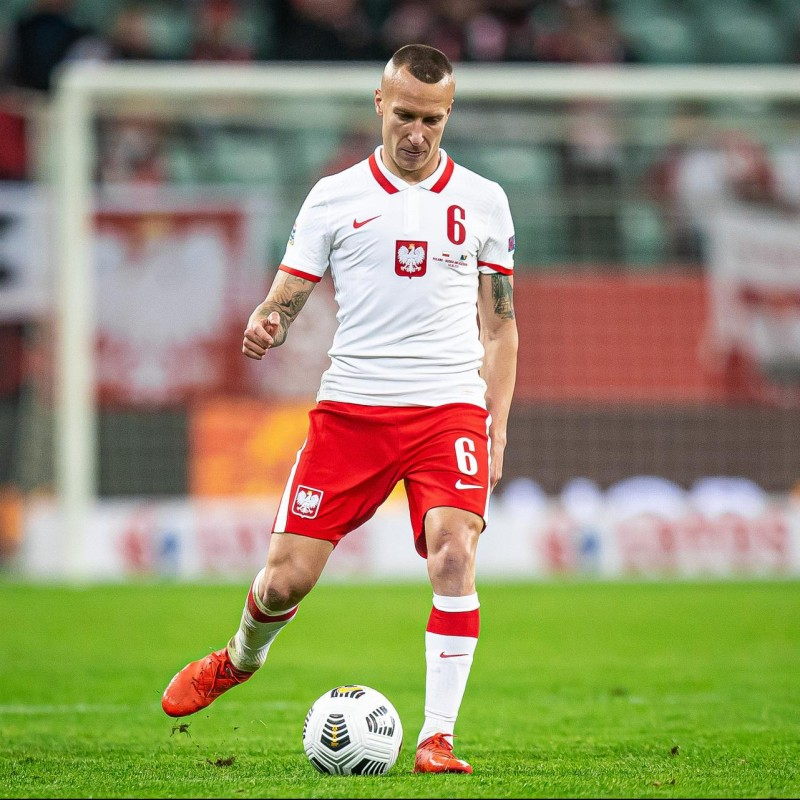 Goralski's Match Worn Shirt, Poland-Italy 2020