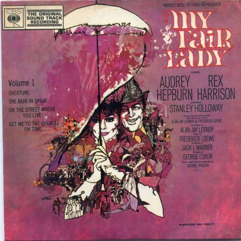"""""""My Fair Lady"""" Vinyl Single - Audrey Hepburn, Rex Harrison, 1964"""