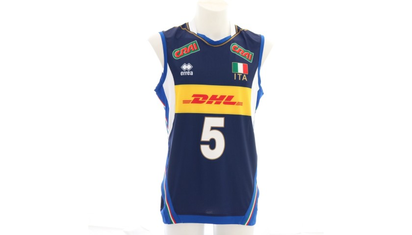 Official Italvolley Vest, 2019 - Signed by Juantorena