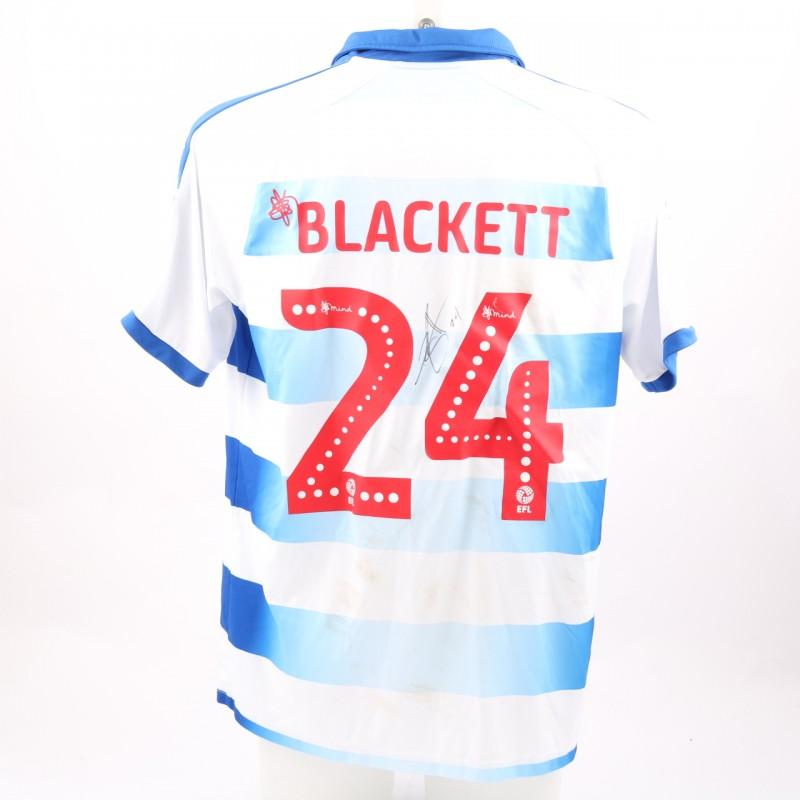Blackett's Match-Worn Reading FC Signed Poppy Home Shirt