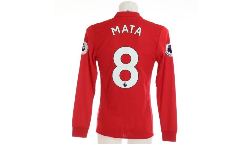 Mata's Manchester United Match Shirt, 2017/18