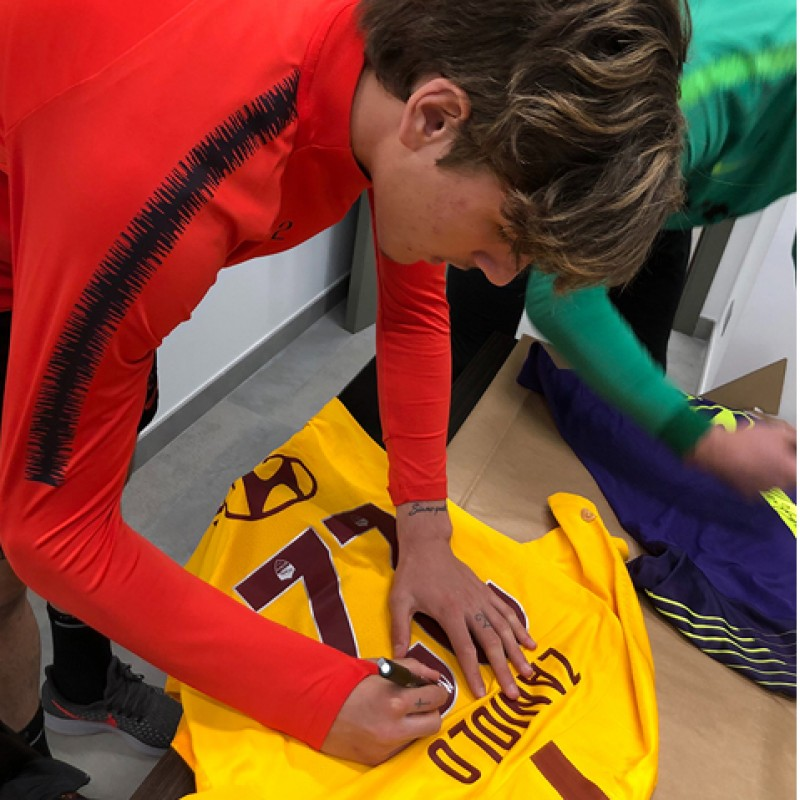 Zaniolo's Match-Issue Shirt, Spal-Roma - Special Giuliano Taccola
