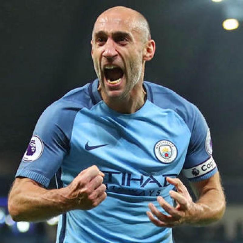 Signed Pablo Zabaleta Manchester City 2016/17 Shirt
