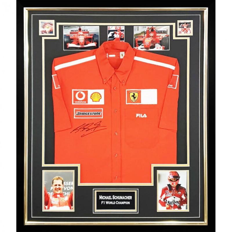 Schumacher's F1 Ferrari World Champion Signed Shirt