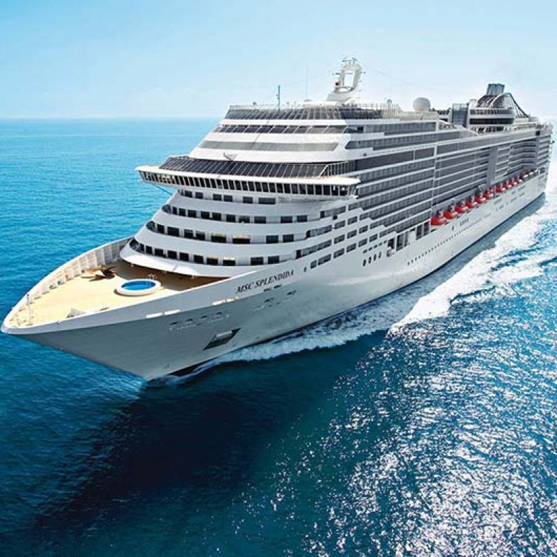 Cruise for 2 aboard the MSC Splendida