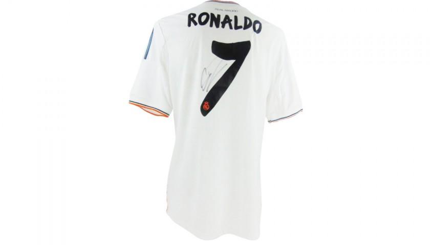 sports shoes aec7d aa8e4 Ronaldo's Official Real Madrid 2013/14 Shirt - Signed - CharityStars