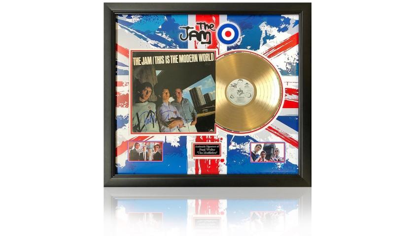 The Jam - Modern World Gold Disc Presentation Hand Signed by Paul Weller