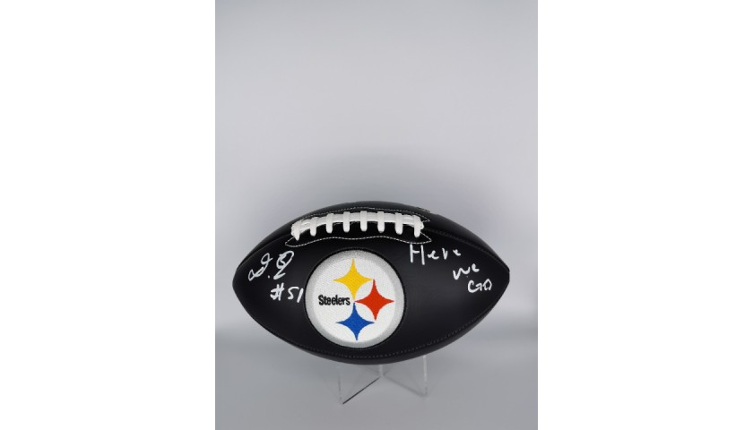 Pittsburgh Steelers NFL Ball Autographed by Buddy Johnson