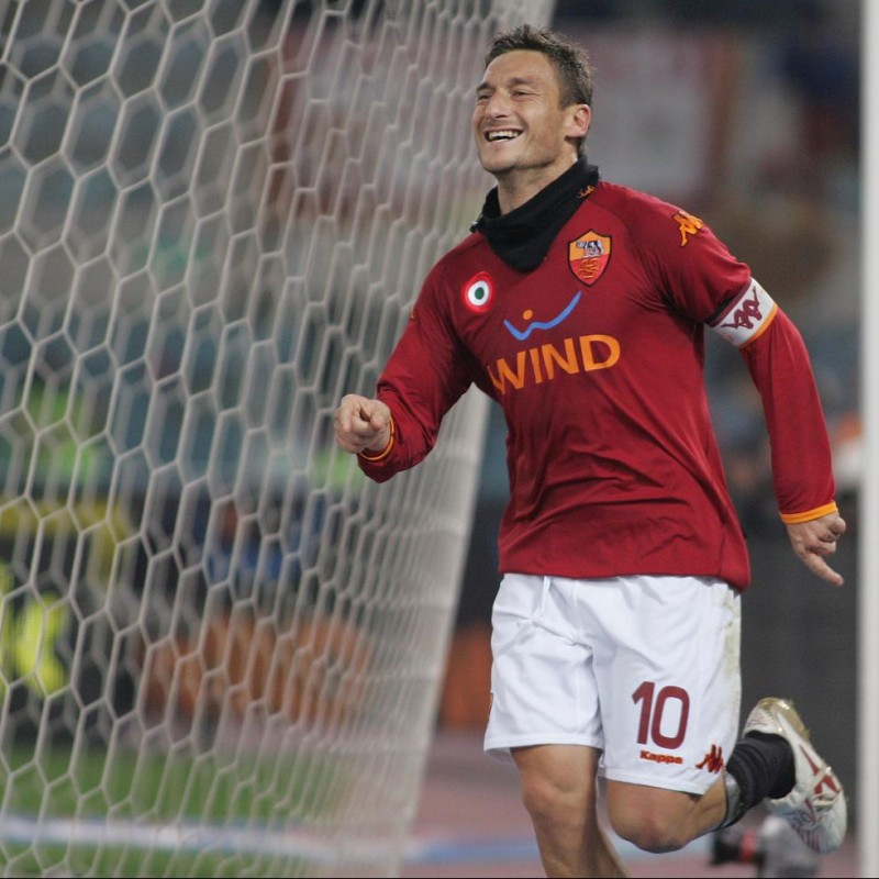 Totti's Roma Match-Issued Shirt, 2007/08