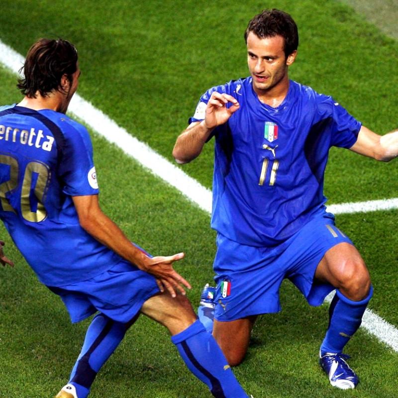 Gilardino's Autographed Match-Issued/Worn Italia Shirt, 2006 World Cup