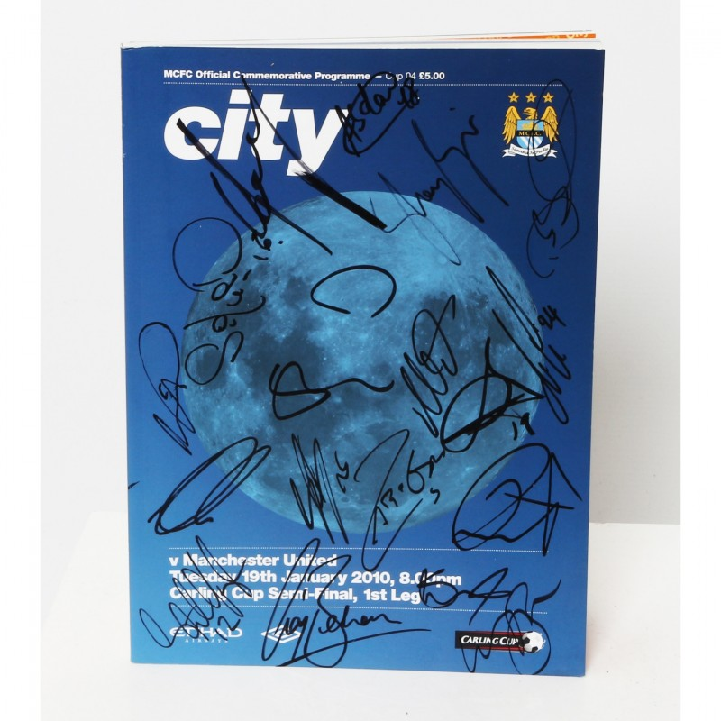 Manchester City FC vs Manchester United FC 2010 - Squad Signed Brochure